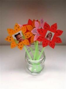 Knutselen lente bloemen